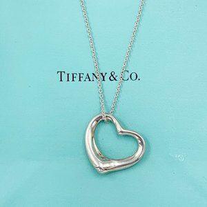 Tiffany & Co Silver Open Heart Necklace
